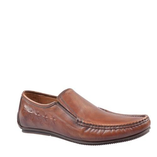 Cabani Bağcıksız Günlük Erkek Ayakkabı Kahve Deri
