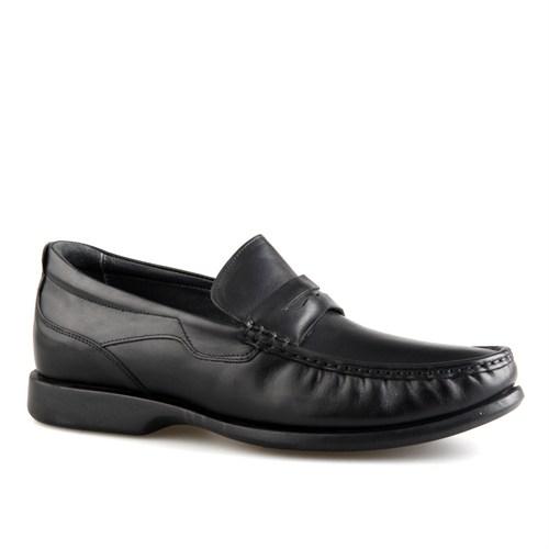 Cabani Kemerli Günlük Erkek Ayakkabı Siyah Analin Deri