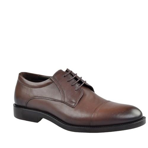 Cabani Bağcıklı Klasik Erkek Ayakkabı Kahve Deri