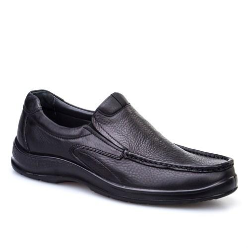 Cabani Bağcıksız Günlük Erkek Ayakkabı Siyah Deri