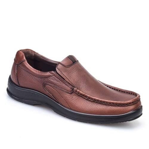 Cabani Bağcıksız Günlük Erkek Ayakkabı Taba Deri
