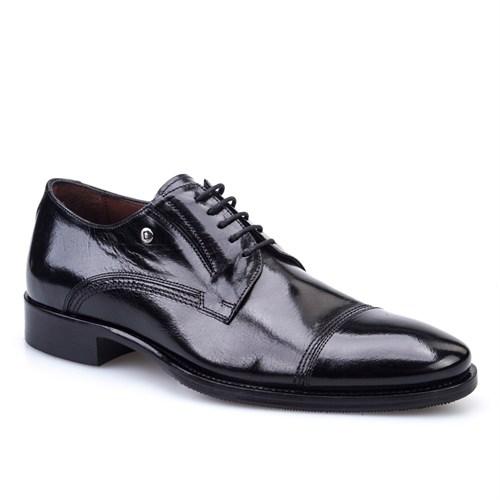 Cabani Bağcıklı Klasik Erkek Ayakkabı Siyah Buffalo Deri