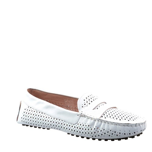 Cabani Zımbalı Günlük Kadın Ayakkabı Beyaz Deri