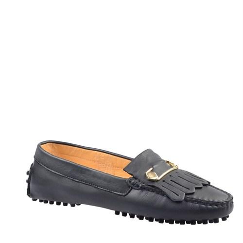 Cabani Makosen Günlük Kadın Ayakkabı Siyah Deri