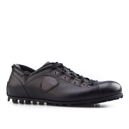 Cabani Özel Tasarım Günlük Erkek Ayakkabı Siyah Deri