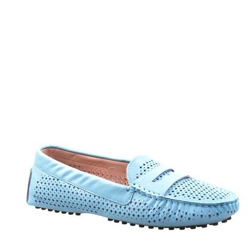 Cabani Zımbalı Günlük Kadın Ayakkabı Mavi Deri