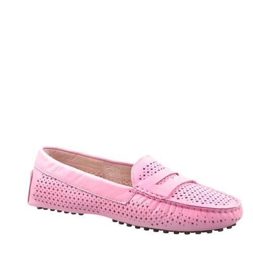 Cabani Zımbalı Günlük Kadın Ayakkabı Pembe Deri