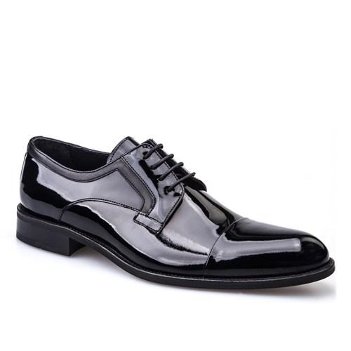 Cabani Bağcıklı Klasik Erkek Ayakkabı Siyah Rugan