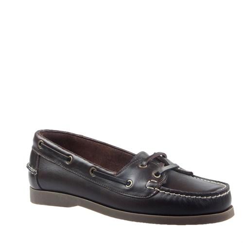Cabani Marin Tekne Günlük Erkek Ayakkabı Kahve Deri