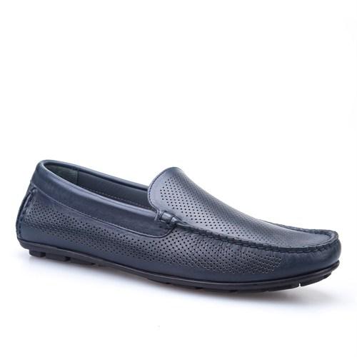 Cabani Lazerli Makosen Günlük Erkek Ayakkabı Lacivert Soft Deri