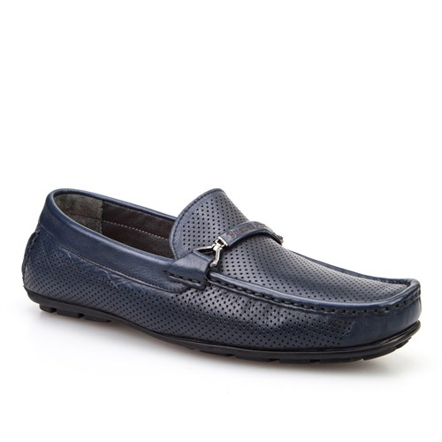 Cabani Kemerli Günlük Erkek Ayakkabı Lacivert Napa Deri