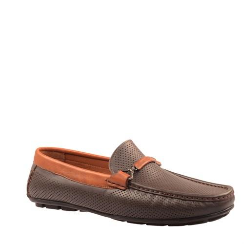 Cabani Kemerli Günlük Erkek Ayakkabı Kahve Soft Deri