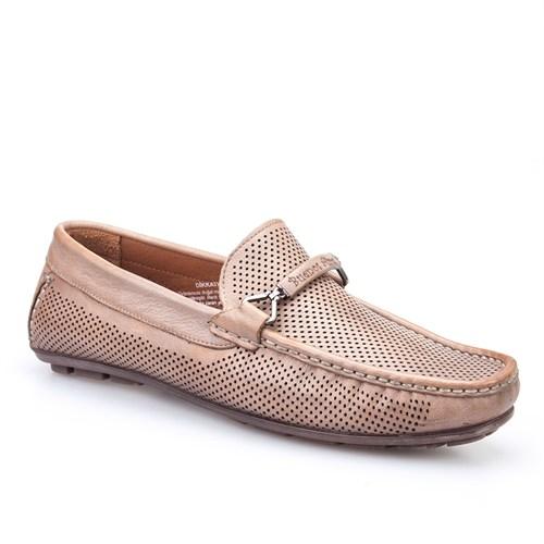 Cabani Kemerli Günlük Erkek Ayakkabı Vizon Soft Deri