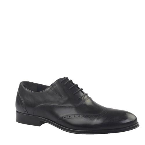 Cabani Bağcıklı Klasik Erkek Ayakkabı Siyah Antik Deri