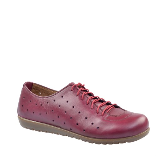 Cabani Comfort Günlük Kadın Ayakkabı Bordo Deri