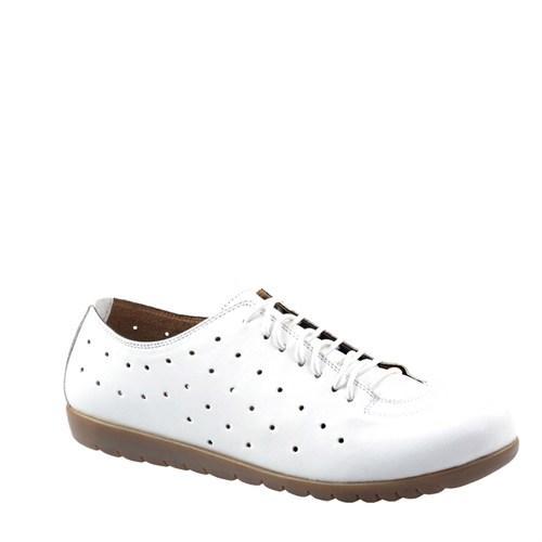 Cabani Comfort Günlük Kadın Ayakkabı Beyaz Deri