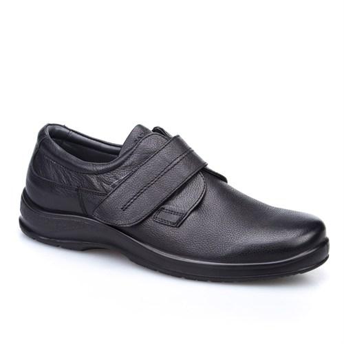 Cabani Cırtlı Günlük Erkek Ayakkabı Siyah Kırma Deri