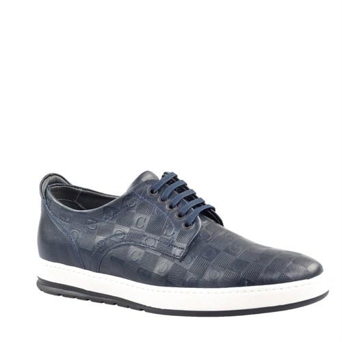 Cabani Baskılı Günlük Erkek Ayakkabı Lacivert Soft Deri