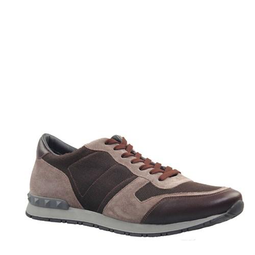 Cabani Kamuflaj Günlük Erkek Ayakkabı Kahve Süet
