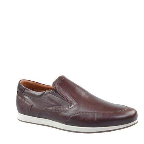 Cabani Bağcıksız Günlük Erkek Ayakkabı Kahve Napa