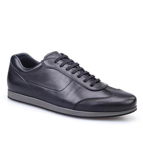 Cabani Bağcıklı Günlük Erkek Ayakkabı Siyah Deri