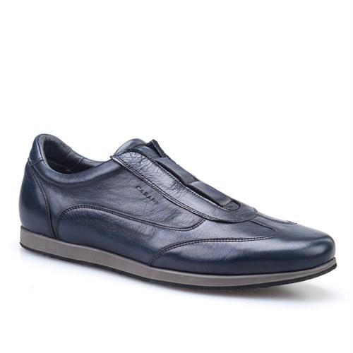 Cabani Bağcıksız Günlük Erkek Ayakkabı Lacivert Picasso Deri