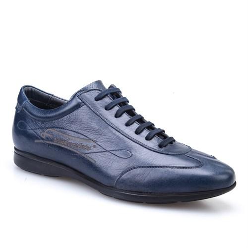 Cabani Bağcıklı Günlük Erkek Ayakkabı Lacivert Picasso Deri