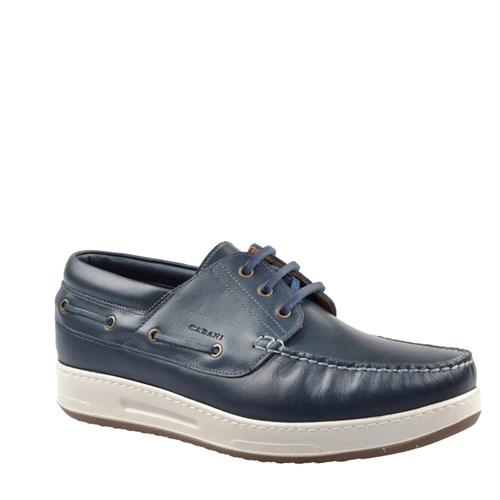Cabani Oxford Günlük Erkek Ayakkabı Lacivert Flap Deri