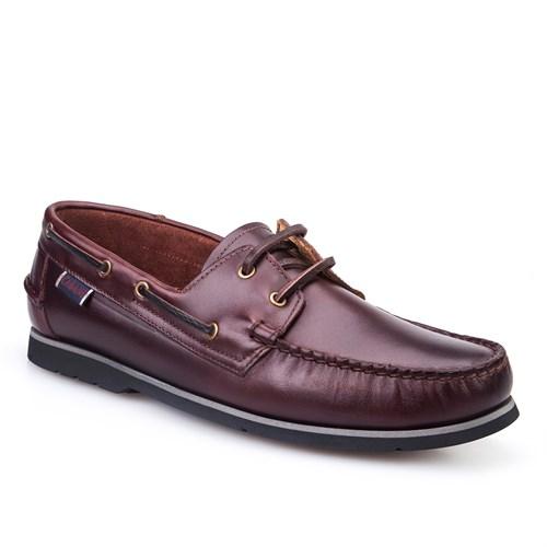 Cabani Marin Tekne Günlük Erkek Ayakkabı Kahve Flap Deri