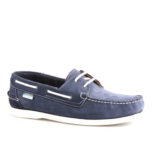 Cabani Marin Tekne Günlük Erkek Ayakkabı Lacivert Nubuk