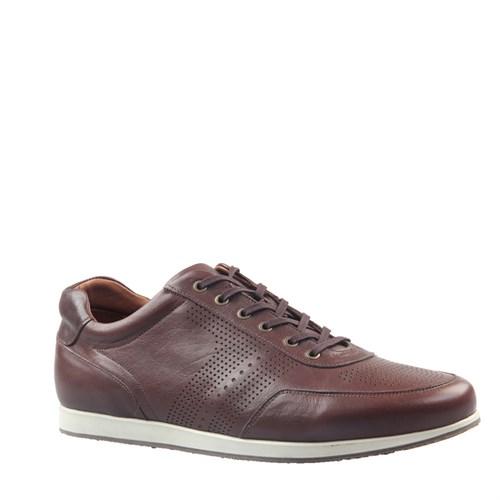 Cabani Lazerli Günlük Erkek Ayakkabı Kahve Napa