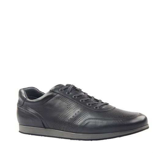 Cabani Lazerli Günlük Erkek Ayakkabı Siyah Deri