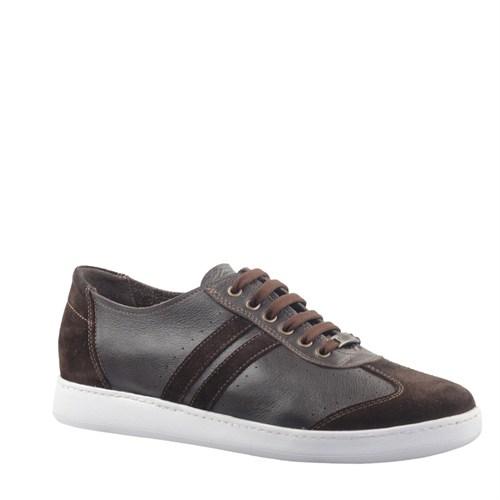 Cabani Bağcıklı Günlük Erkek Ayakkabı Gri Deri
