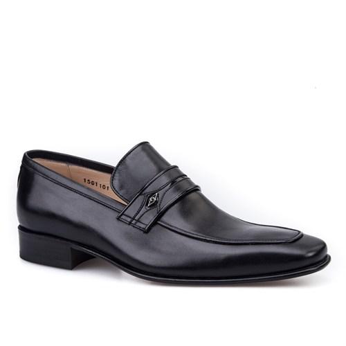 Nevzat Onay Bağcıksız Klasik Erkek Ayakkabı Siyah Antik Deri