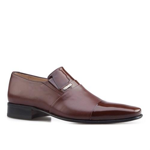 Nevzat Onay Bağcıksız Klasik Erkek Ayakkabı Kahve Deri