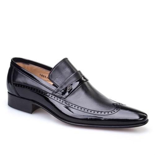 Nevzat Onay Çift Deri Klasik Erkek Ayakkabı Siyah Deri