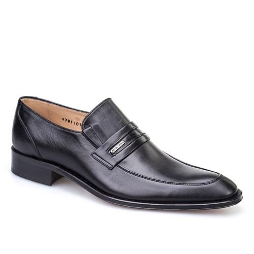 Nevzat Onay Kemerli Klasik Erkek Ayakkabı Siyah Analin Deri