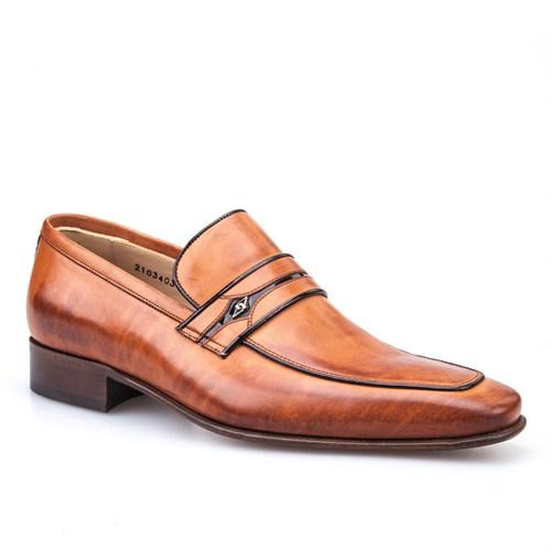 Nevzat Onay Bağcıksız Klasik Erkek Ayakkabı Taba Antik Deri