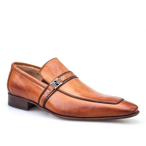 Nevzat Onay Tokalı Klasik Erkek Ayakkabı Taba Antik Deri