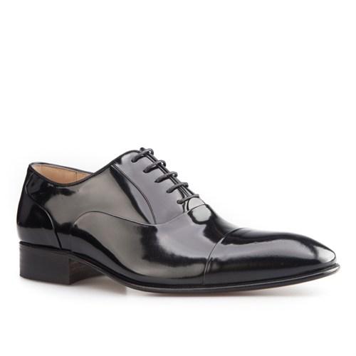 Nevzat Onay Bağcıklı Klasik Erkek Ayakkabı Siyah Açma Deri