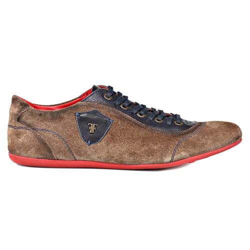 Salvano Taupe Lacivert Erkek Ayakkabı