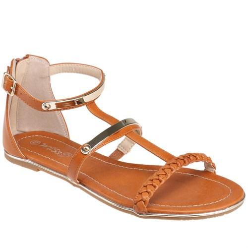 Miss F F16094 Taba Kadın Sandalet