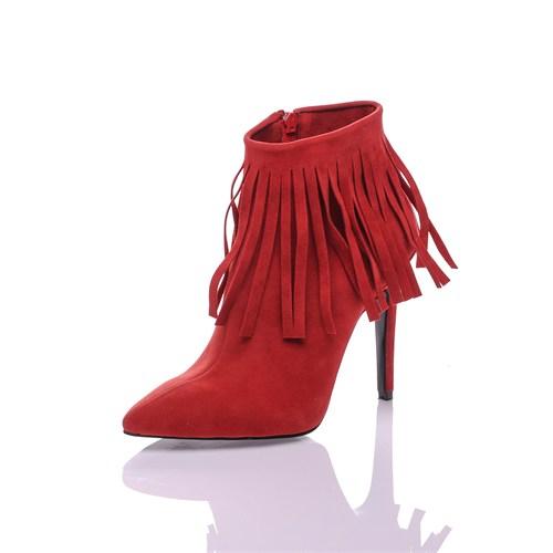 Dnc Kırmızı Süet Kadın Bot 10550204