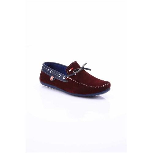 Shoes&Moda Bordo Lacivert Unisex Deri Ayakkabı 509 5 Ab040422