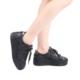 Modabuymus Gopan Siyah Bağcıklı Kalın Taban Spor Ayakkabı