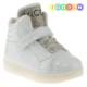 Vicco 220Y593 Tek Cırt Taşlı Işıklı Beyaz Çocuk Ayakkabı