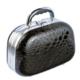 Tarko Lionesse Oval Bavul Tipi Çanta 362 - Yılan Derisi Siyah