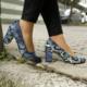 İnce Topuk Mavi Yeşil Kalın Topuklu Stiletto