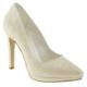 Isabel 430 Parlak Klasik Topuklu Beyaz Bayan Ayakkabı