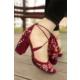 İnce Topuk Nakış İşlemeli Topuklu Ayakkabı 7YAZA0104414